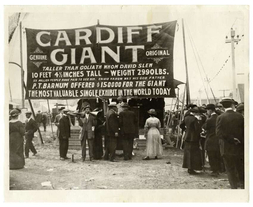 Step right up and see the Cardiff Giant! (Courtesy The Farmers' Museum)