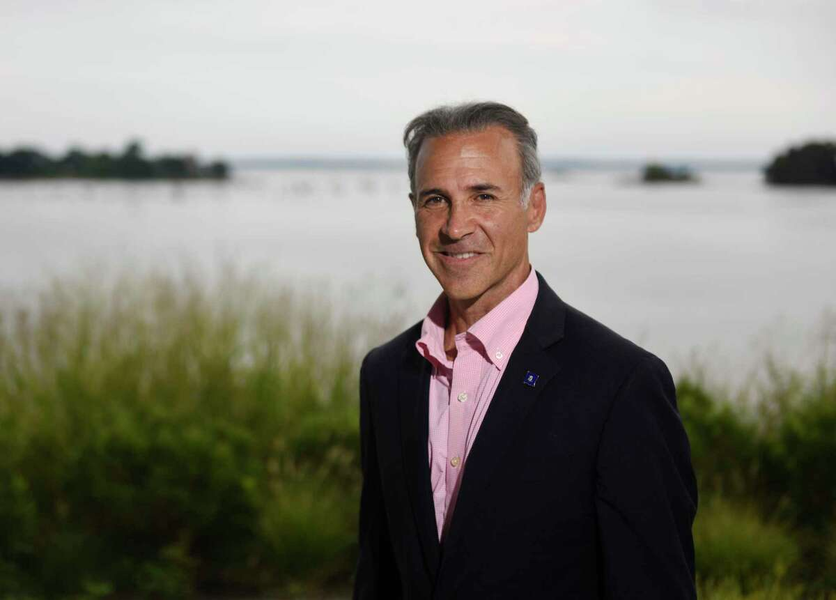 State Rep. Fred Camillo, Republican candidate for first selectman, at Cos Cob Park on Sept. 5.