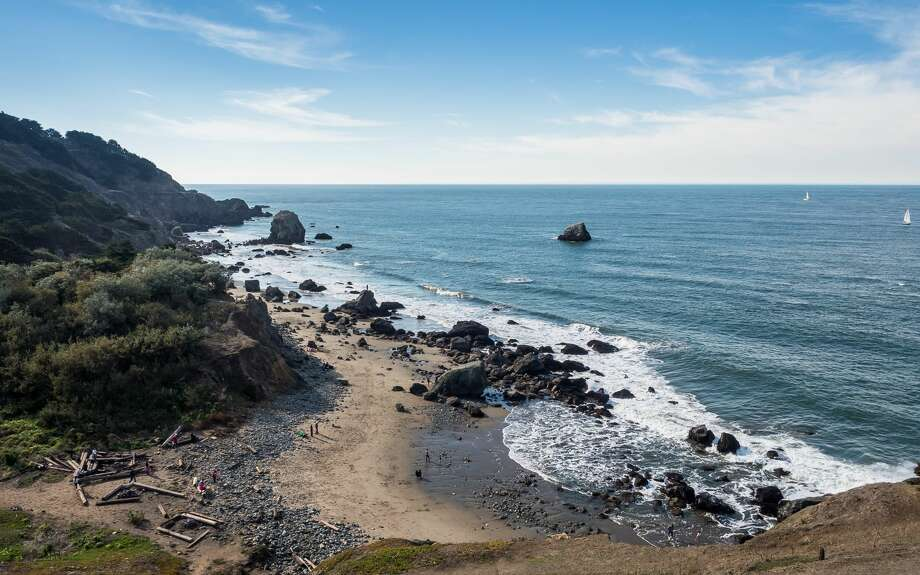 FILE-- Mile Rock Beach is a cove on the northern coast of San Francisco. The U.S. Coast Guard on Saturday morning found a body believed to be a 24-year-old woman apparently swept out by strong currents in waters off Land's End the night before. Photo: Michael Lee/Getty Images