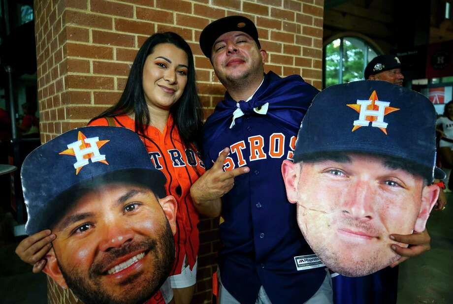 PHOTOS: A look at Astros fans at Game 2 of the ALDS on Saturday night
