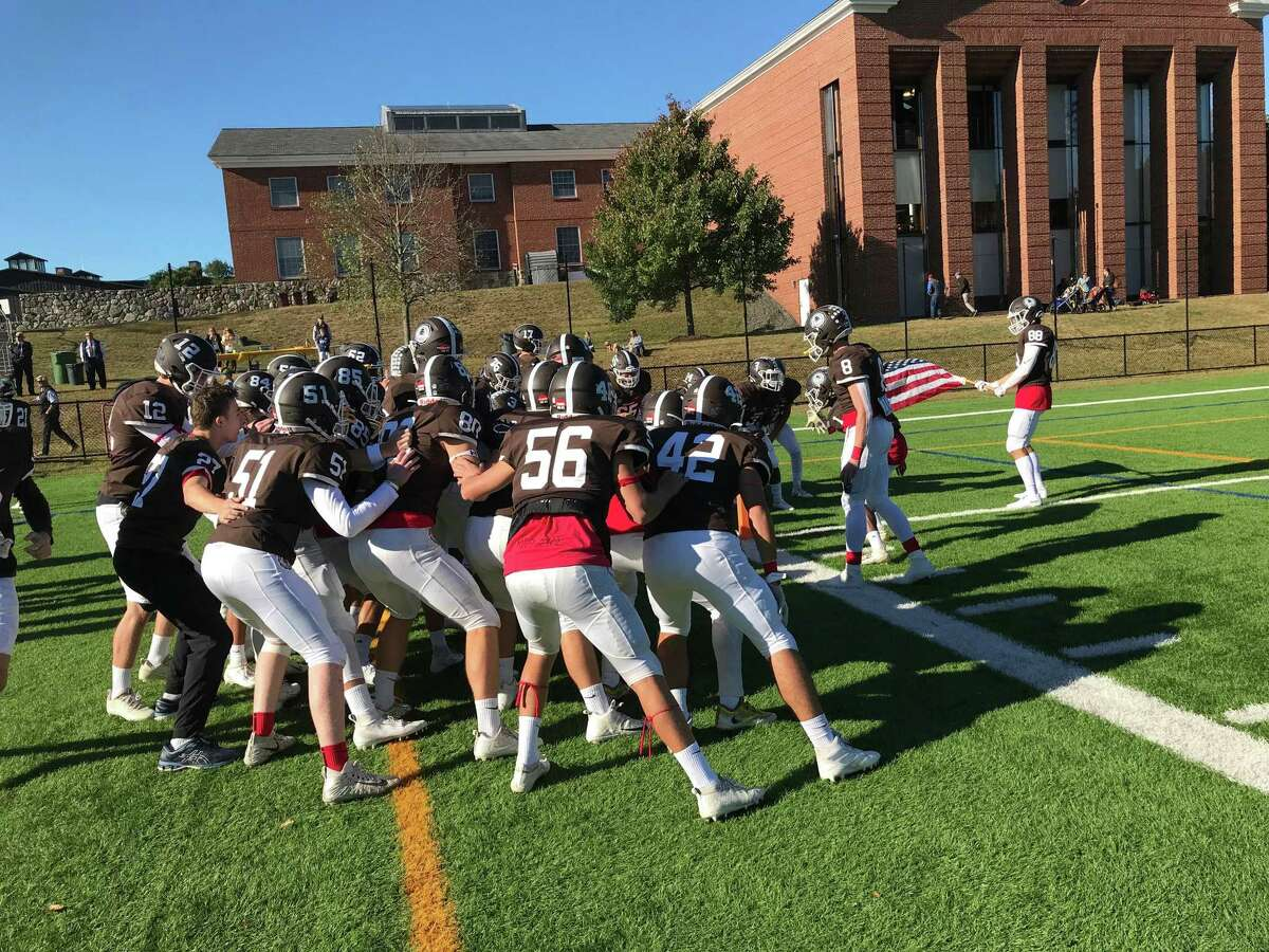 The Brunswick School football team lost to Choate Rosemary Hall, 20-7, on Saturday, October 5, 2019, in Greenwich.
