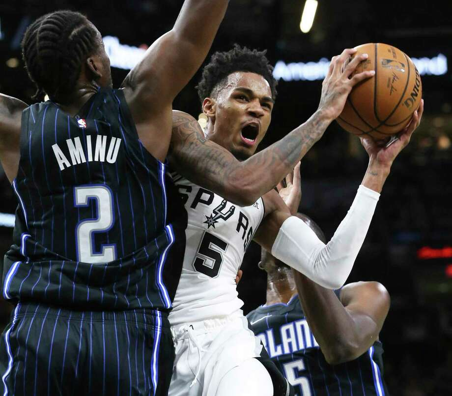 Dejounte Murray became the first Spur to sign an extension since Tiago Splitter in 2013. The point guard, with just a total of 135 games played, missed the 2018-19 season with a knee injury. Photo: Tom Reel / Staff Photographer / 2019 SAN ANTONIO EXPRESS-NEWS