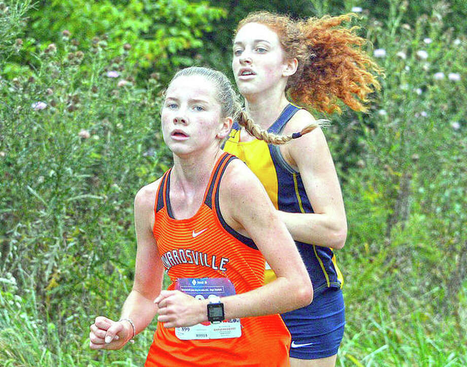 In this file photo, Edwardsville freshman Riley Knoyle competes in the Edwardsville Invitational. Photo: Intelligencer Sports Staff
