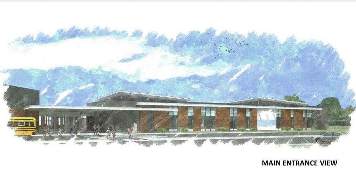 Rendering of the proposed main entrance to the Consolidated Early Learning Academy.