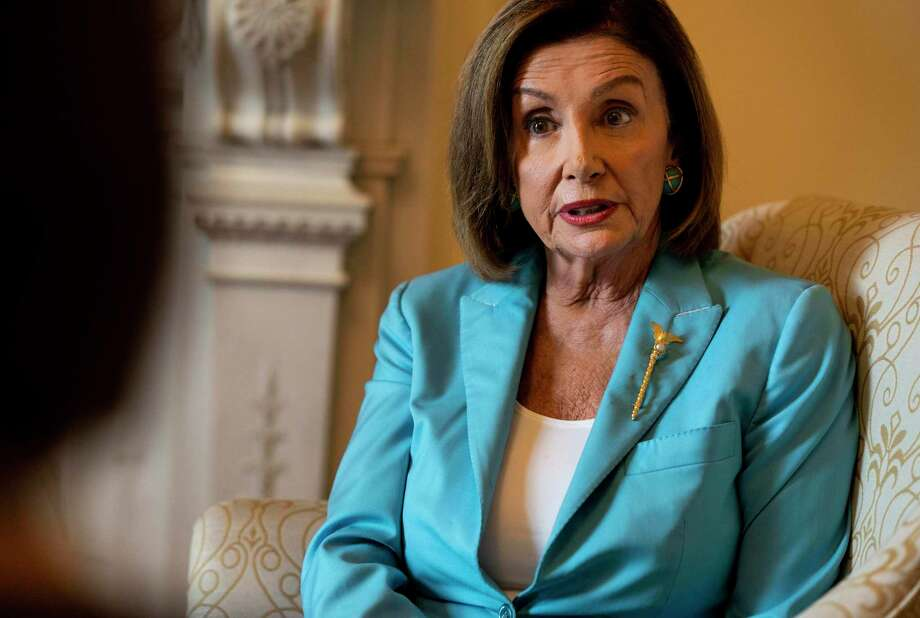 House Speaker Nancy Pelosi, D-Calif., is interviewed in her office about the impeachment inquiry concerning President Donald Trump on Wednesday. Photo: Washington Post Photo By Melina Mara / The Washington Post