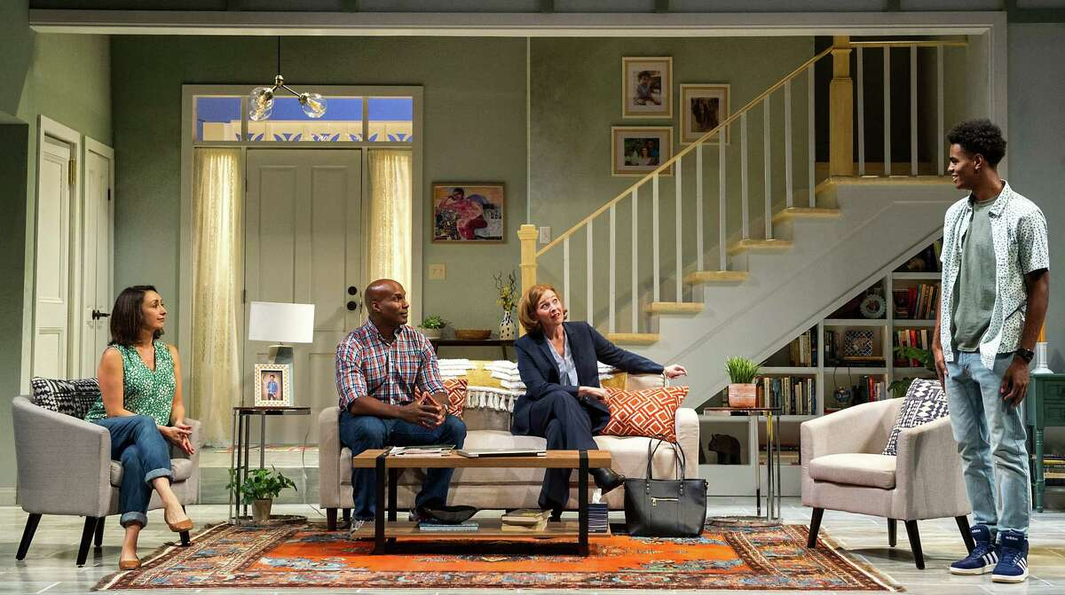 From left, Natascia Diaz, Alan H. Green, Kathleen McNenny and Justin Withers in Barrington Stage Company's production of