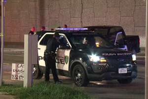 A 12-year-old boy was shot Saturday night while riding in his family's pickup truck on Gulf Freeway feeder, Houston police said.