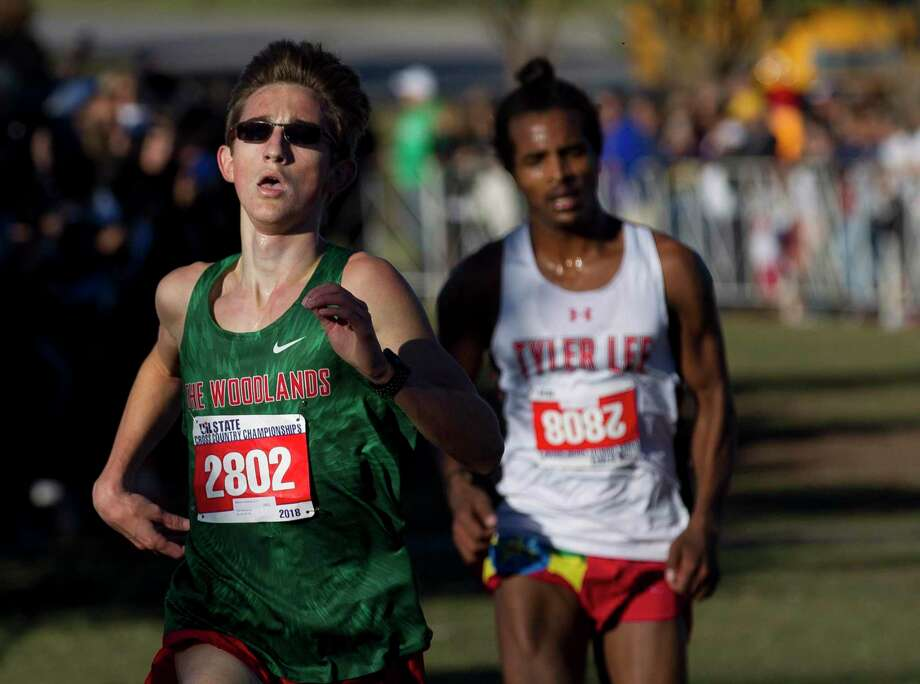 The Woodlands' Spencer Cardinal, shown here last year at the state meet, led the Highlanders to the Nike South Invitational elite race championship on Saturday. Photo: Jason Fochtman, Houston Chronicle / Staff Photographer / © 2018 Houston Chronicle