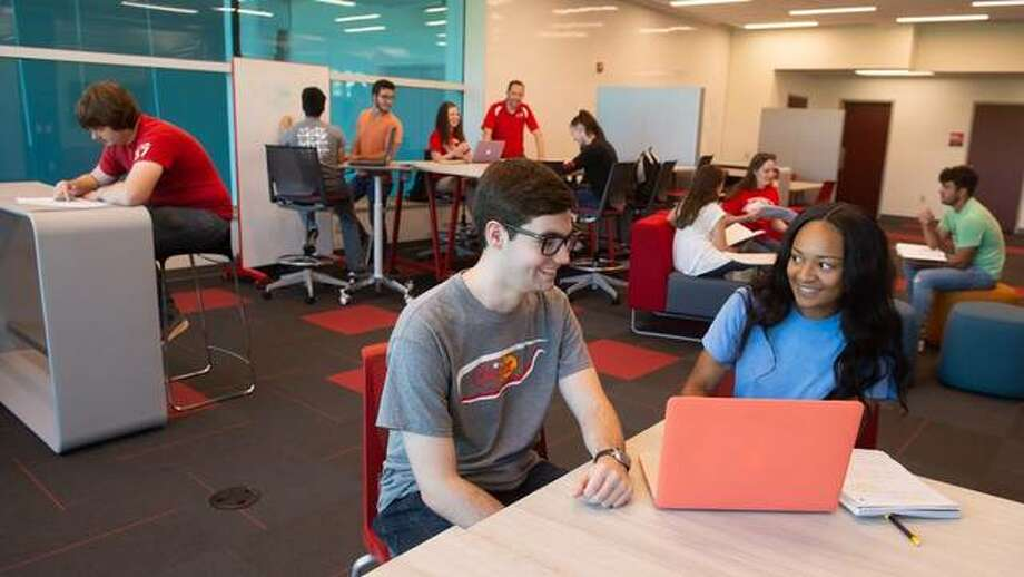 SIUE School of Engineering students collaborate on a variety of projects in the new Grady Family Foundation Innovation Loft. Photo: For The Telegraph