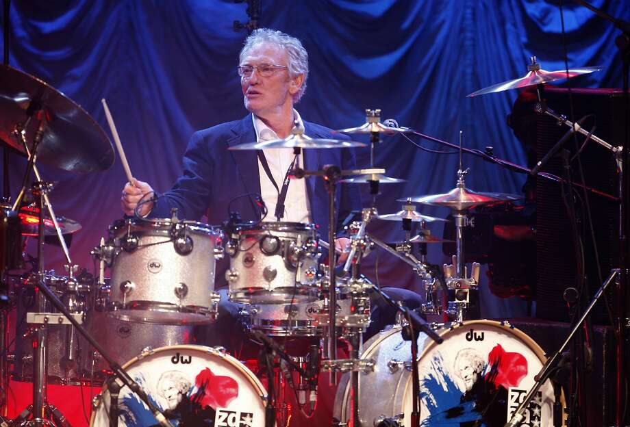 Ginger Baker, whose applied his jazz technique to rock, performs in London in December 2008. Photo: MJ Kim / Associated Press 2008