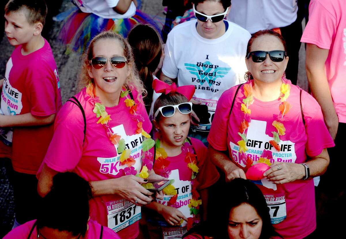 Participants join in the run and festivities during the Gift of Life Ribbon Run Color Rush 2019, with the theme