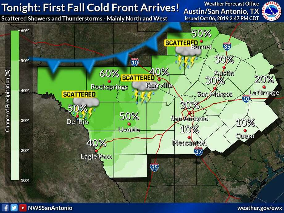 Two Cold Fronts This Week Will Give San Antonio A Slight
