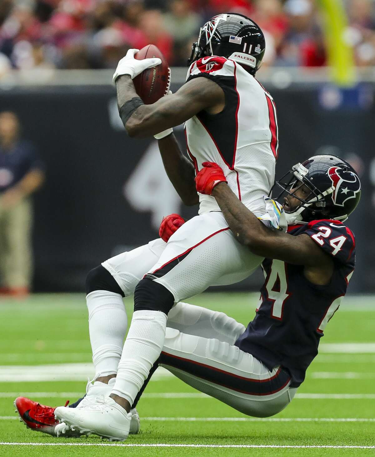 CONTAIN JULIO JONES Falcons wide receiver Julio Jones is 30 years old, but he's still at the top of his game. He ranks ninth in the NFL in receiving yards (526) and 12th in receptions (40). In his ninth season out of Alabama, Jones has remained one of the league's premier deep-ball and red-zone pass catchers. The six-time Pro Bowler is the focal point of Atlanta's prolific passing offense, which ranks second in the NFL. The Seahawks' secondary, which has been inconsistent containing explosive plays, will have their hands full Sunday. As bad as the Falcons have been to start the season, their passing game is the one thing Seattle can'tmess around with.