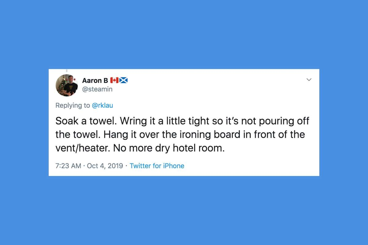 Twitter users shared their favorite hotel hacks, after one traveler shared a clever tip for keep sunlight out of their room.