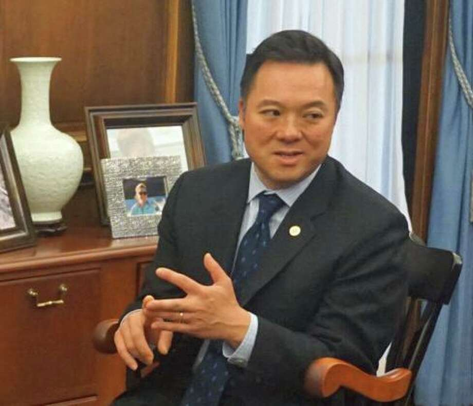 """Attorney General William Tong will speak on """"Enforcement Actions Against Generic Drug Manufacturers and the Opioid Crisis"""" on Wednesday before the Greenwich Retired Men's Association at the First Presbyterian Church, 1 W. Putnam Ave. The free program is open to the public; no reservations required. Social break starts at 10:40 a.m., followed by the speaker at 11 a.m. Photo: File / Emilie Munson / Hearst Connecticut Media / Connecticut Post"""