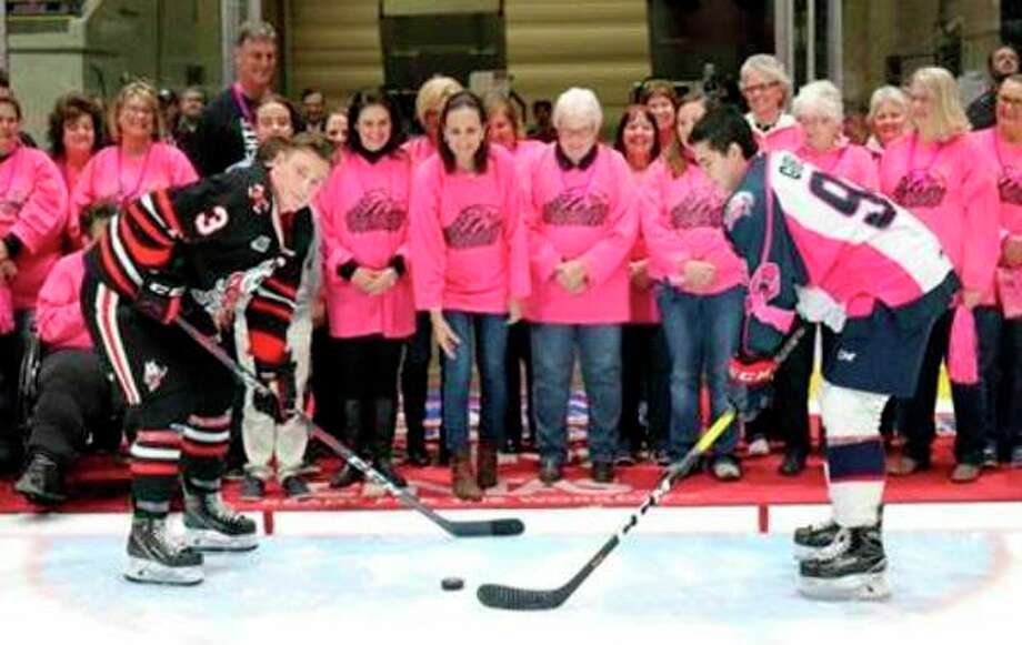 Breast cancer survivorswill bespecial guests at theSaginaw Spirit Pink Out Hockey gameset for Oct. 26.(Photo provided)