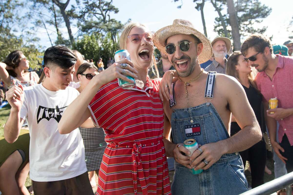 Festival attendees show off their personal style at the Hardly Strictly Bluegrass Festival in Golden Gate Park on October 6, 2019.