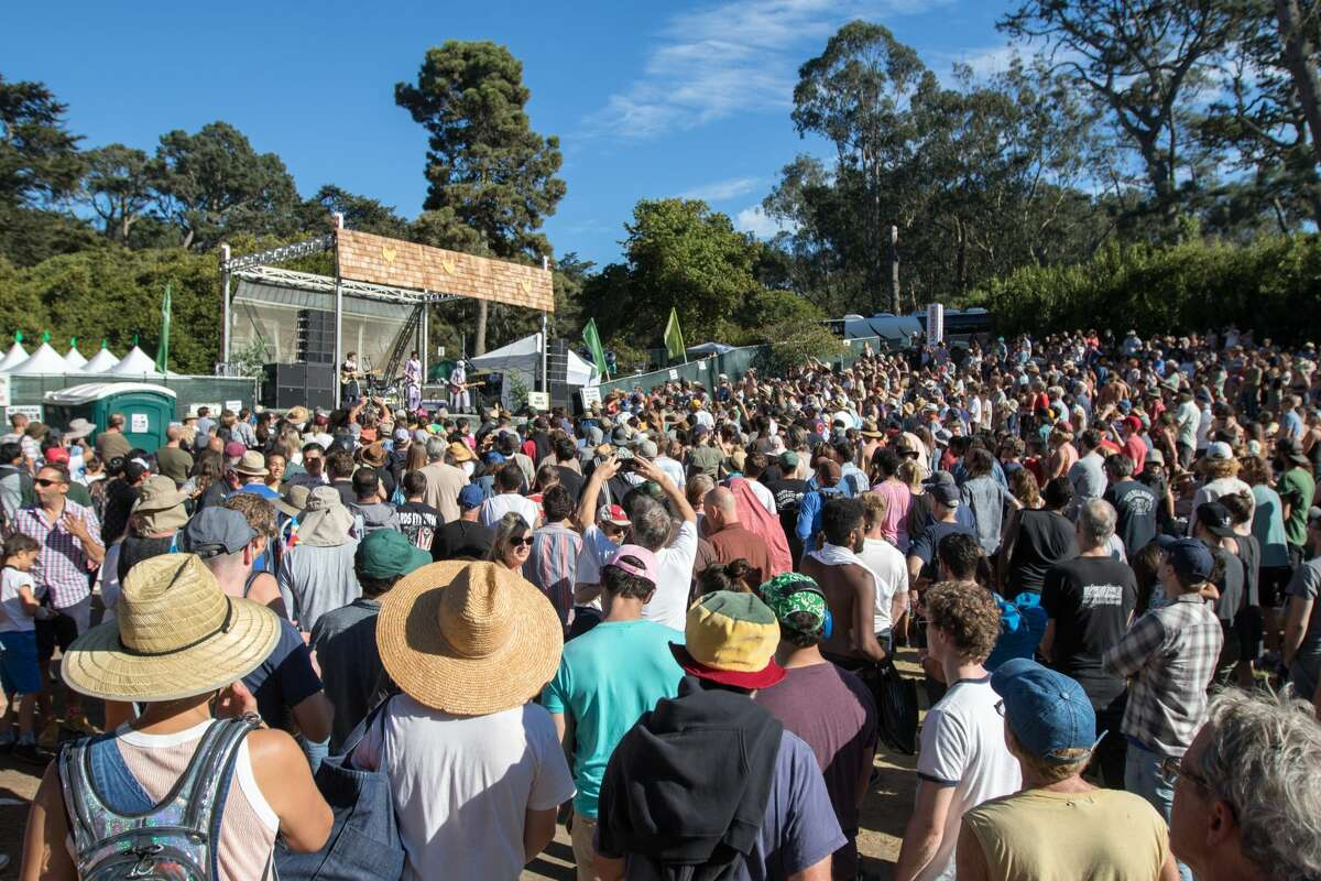 The Hardly Strictly Bluegrass Festival in Golden Gate Park in 2019. This year the event will be held online due to the COVID-19 pandemic.