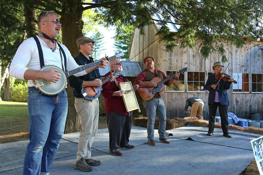 The Flying Fingers of Nyack, N.Y., perform at the Lachat Town Farm annual Hoedown Barn Dance & BBQ on Saturday, Oct. 5, 2019, in Weston, Conn. Photo: Jarret Liotta / Jarret Liotta / ©Jarret Liotta