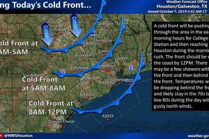 A pair of cold fronts should drop Houston's weekend high temperatures into the low-70s.