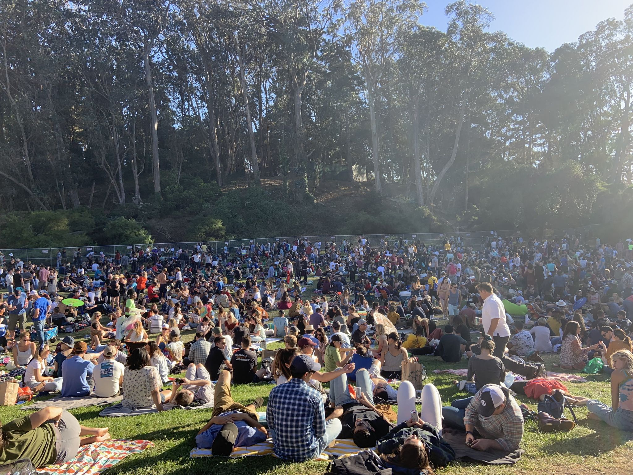 'Why isn't anybody happy?' Huge crowds dampen Hardly Strictly fun