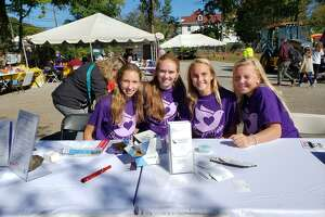 Respect Works teens Katie Chandler, Sally Voucher, Charlotte Sulger, and Courtney Ball.