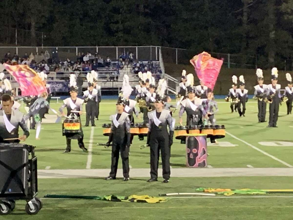 The Trumbull High School Golden Eagle Marching Band (THSGEMB) performed at the Joseph P. Grasso Marching Band Festival at Newtown High School last Saturday. They earned a score of 88.000 points in competition, the highest score earned by any of the ensembles performing. The THSGEMB will compete in the Cavalcade of Bands at Norwalk High School on Saturday, Oct. 12. The competition begins at 4 p.m., and THSGEMB performs at 6:45 pm. Performance times are subject to change.