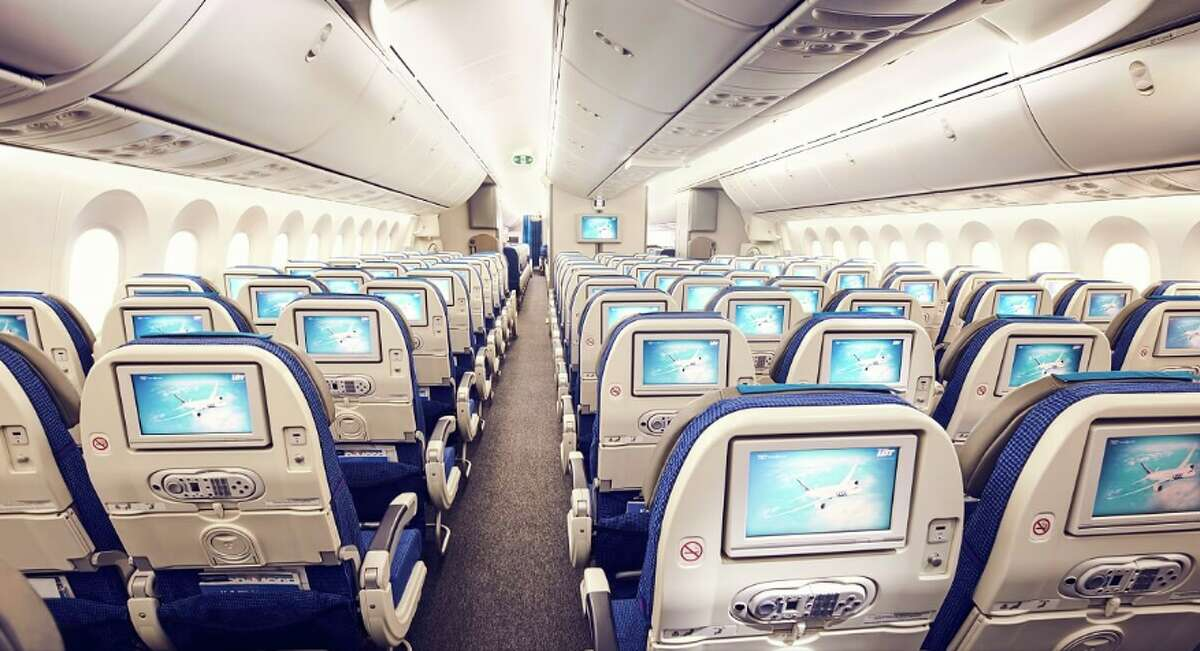 Economy class on LOT Polish Airlines