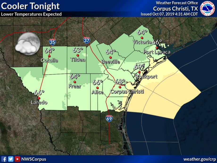 A pair of cold fronts should drop Laredo's weekend high temperatures into the low-70s. Photo: National Weather Service