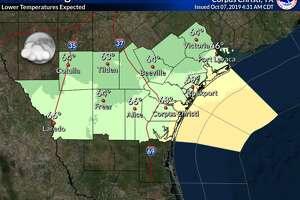 A pair of cold fronts should drop Laredo's weekend high temperatures into the low-70s.