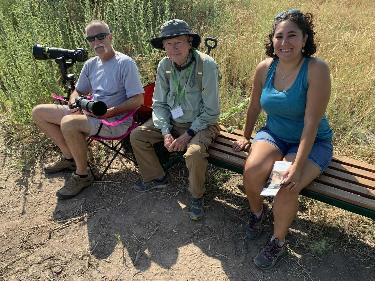 Dragonfly: Arlon Motsch, from left, David Pine and Brittany Meagher
