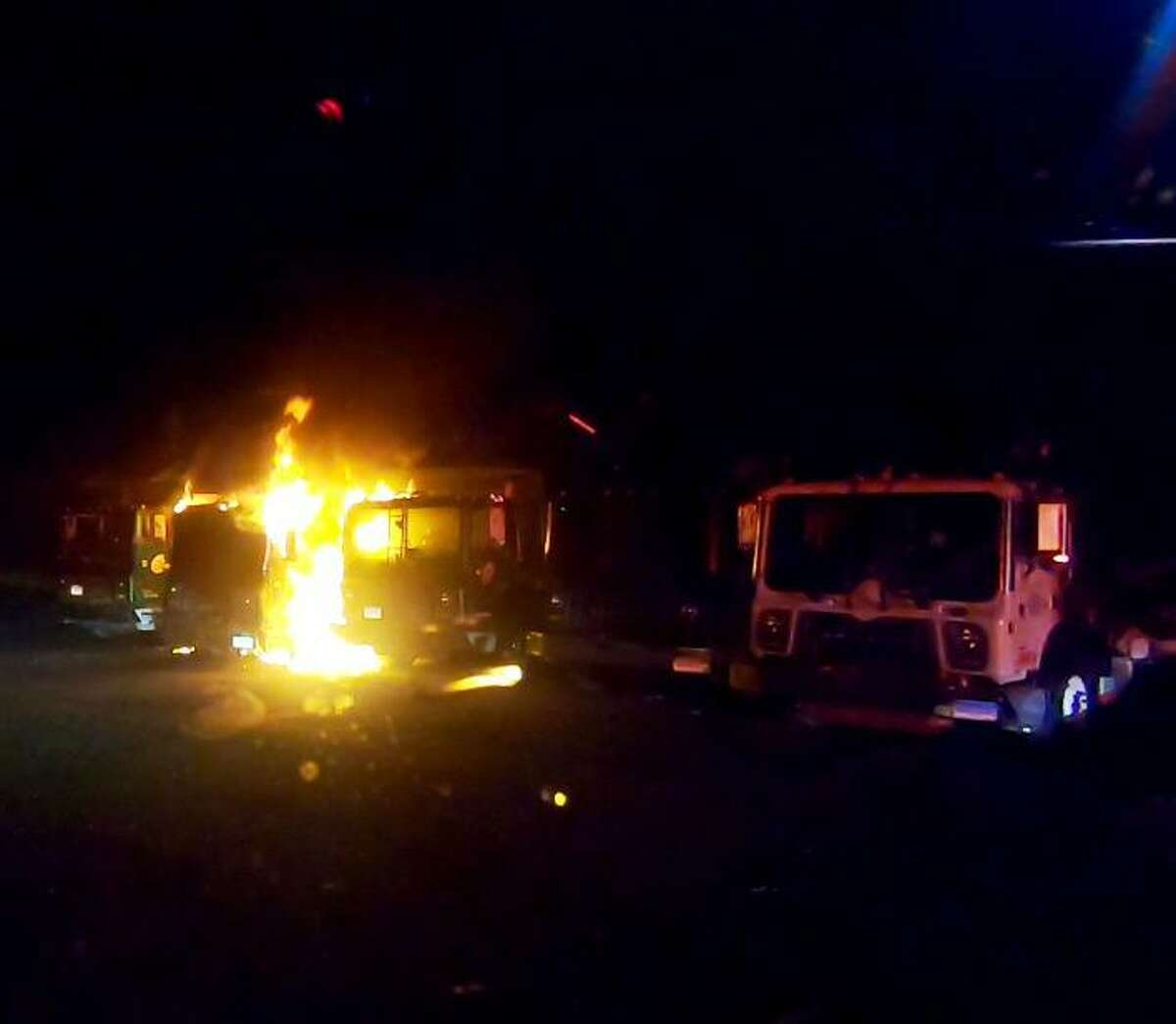 Shelton fire crews responded to 46 Oliver Terrace (Winter Brothers) on Monday, Oct. 7, for the report of a garbage truck on fire.