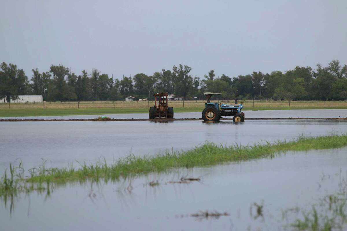 Fields across the county also received feet of water and farm equipment was also damaged.
