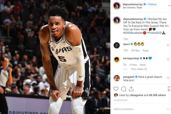 """""""Thank You To Everyone Who Support Me, It's Only Up From Here,"""" Dejounte Murray said in an Instagram post on Sunday."""