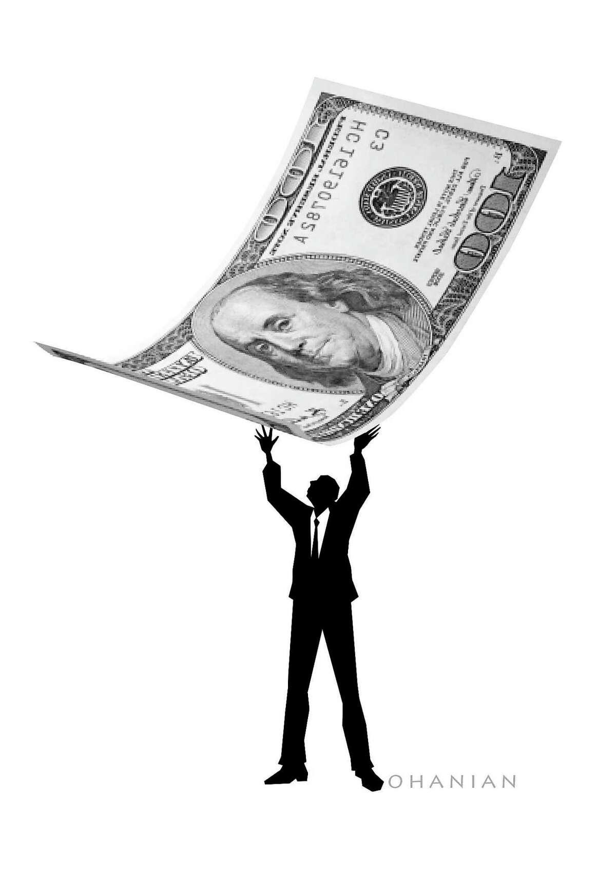 Illustration for column on pension debt