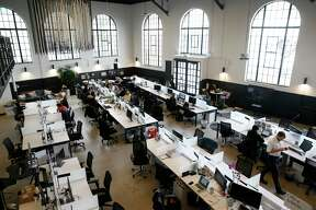 Real estate company Compass is headquartered at Ghiradelli Square in San Francisco, Calif. on Thursday, Jan. 17, 2019.