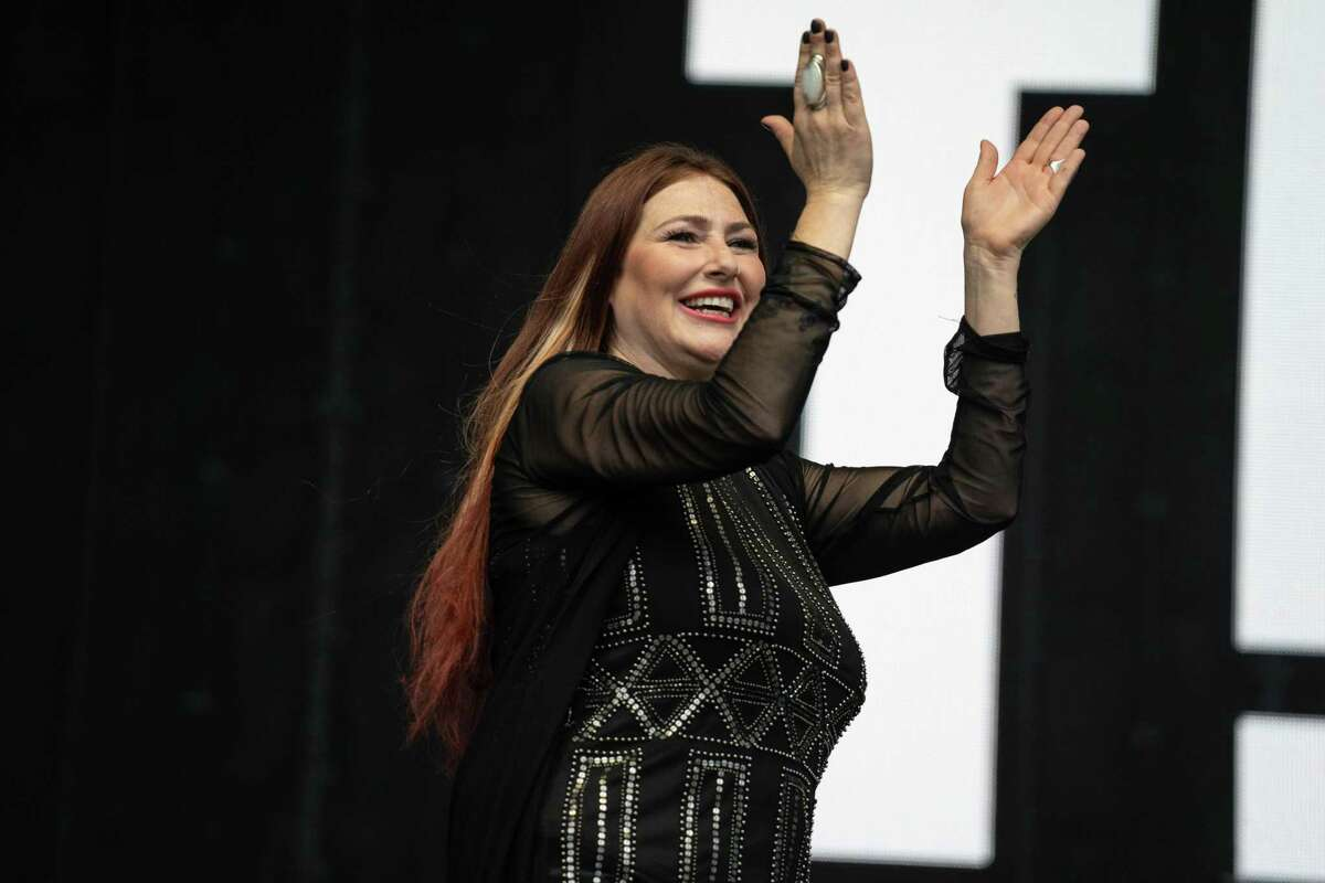 Tiffany performs recently in Henley-on-Thames, England.