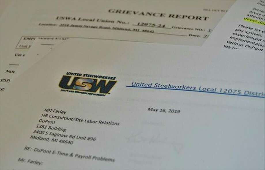 USW Local 12075 has issued formal statements as well as a grievance report to DuPont to correct the ongoing issues employees have had with the ADP e-time pay system. (Ashley Schafer/Ashley.Schafer@hearstnp.com)