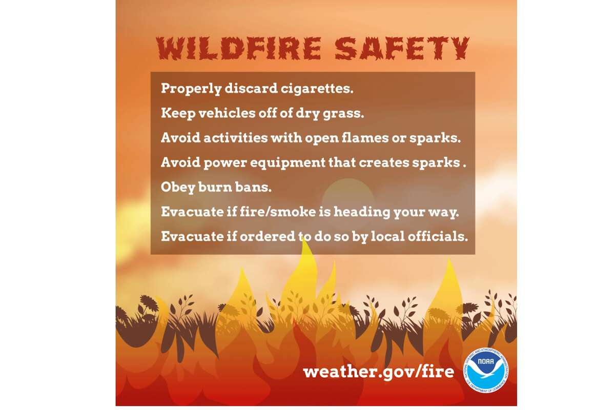 The National Weather Service's tips for wildfire safety.