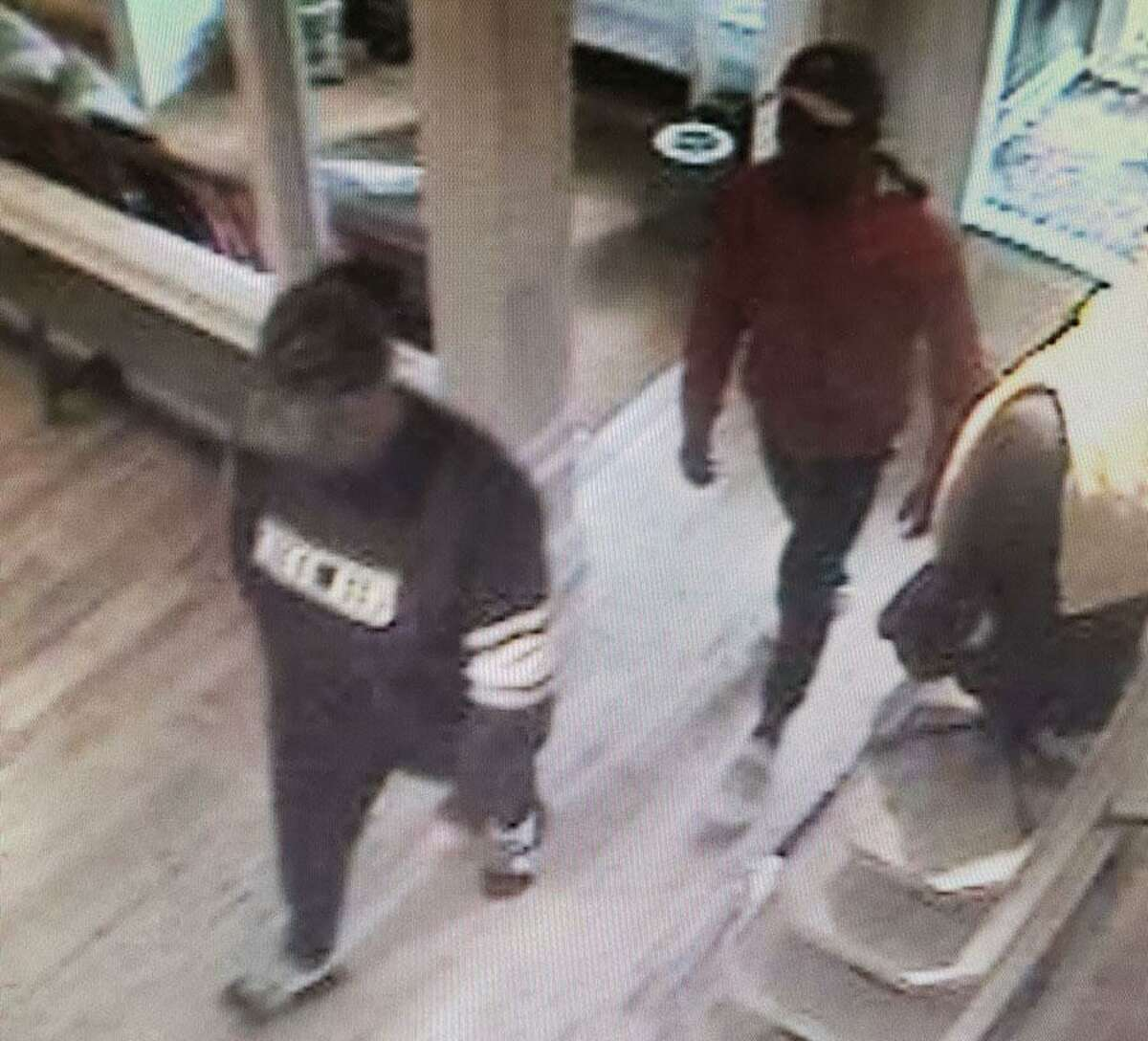 New Canaan Police have released surveillance footage of suspects in a theft at the Ralph Lauren store on Elm Street on Monday, Oct. 7, the third such shoplifting in a five-day span at the same store.