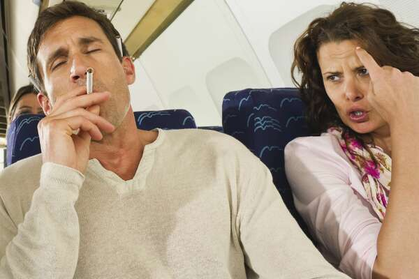 Smoking on board may not get you banned, but assaulting a flight attendant sure will. Disputing credit card charges may do the trick, too.