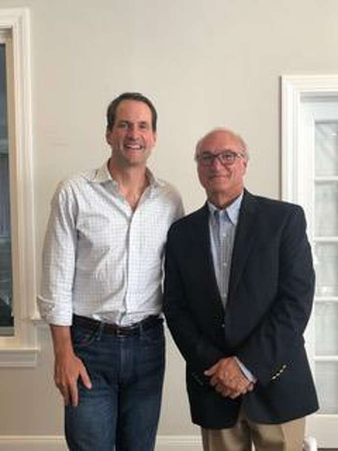 Congressman Jim Himes and Ridgefield First Selectman Rudy Marconi. Photo: Contributed Photo