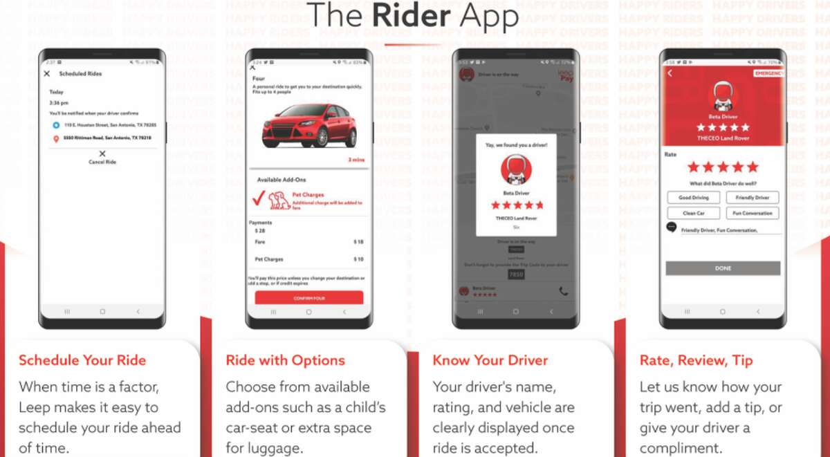 Leep is the Alamo City's local ride-booking company. Chief Technology Officer Matthew Carter said the service was launched as a response to the problems he and founder Michael Khadem heard from Lyft and Uber drivers who were