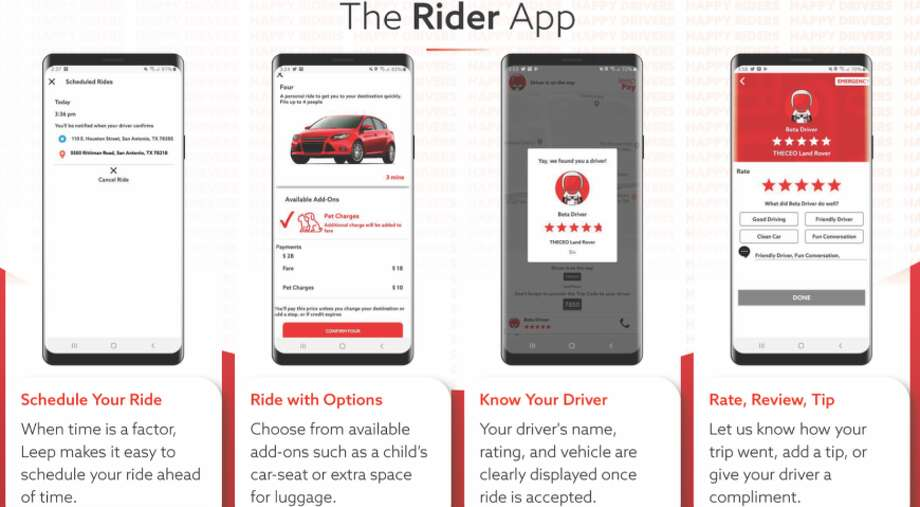 """Leep is the Alamo City's local ride-booking company. Chief Technology Officer Matthew Carter said the service was launched as a response to the problems he and founder Michael Khadem heard from Lyft and Uber drivers who were """"underpaid, undervalued and unhappy."""" Photo: Courtesy, Leep"""