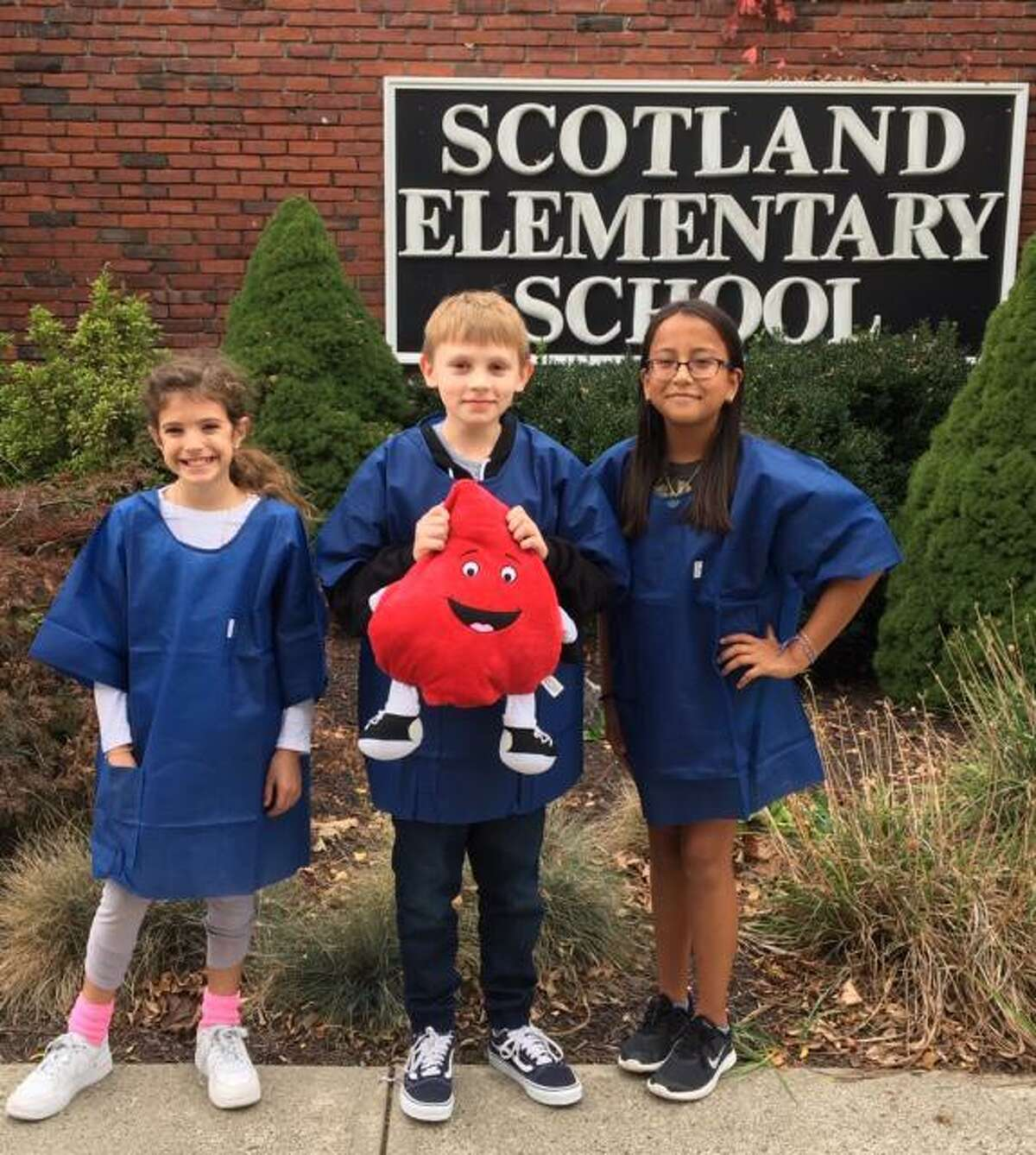 Scotland students, from left to right: Maddie Scholl, Dries Schoenly and Lia Munoz.