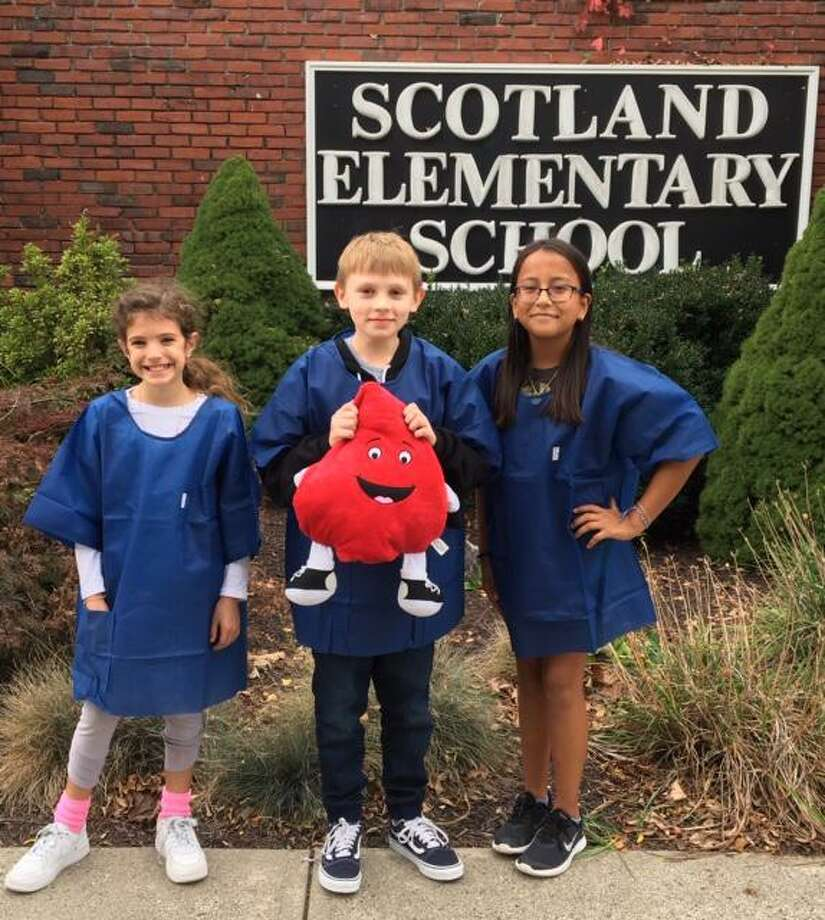 Scotland students, from left to right: Maddie Scholl, Dries Schoenly and Lia Munoz. Photo: Contributed Photo