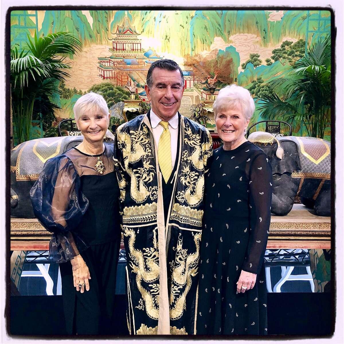 Gail Glasser (left) with designer Hutton Wilkinson and