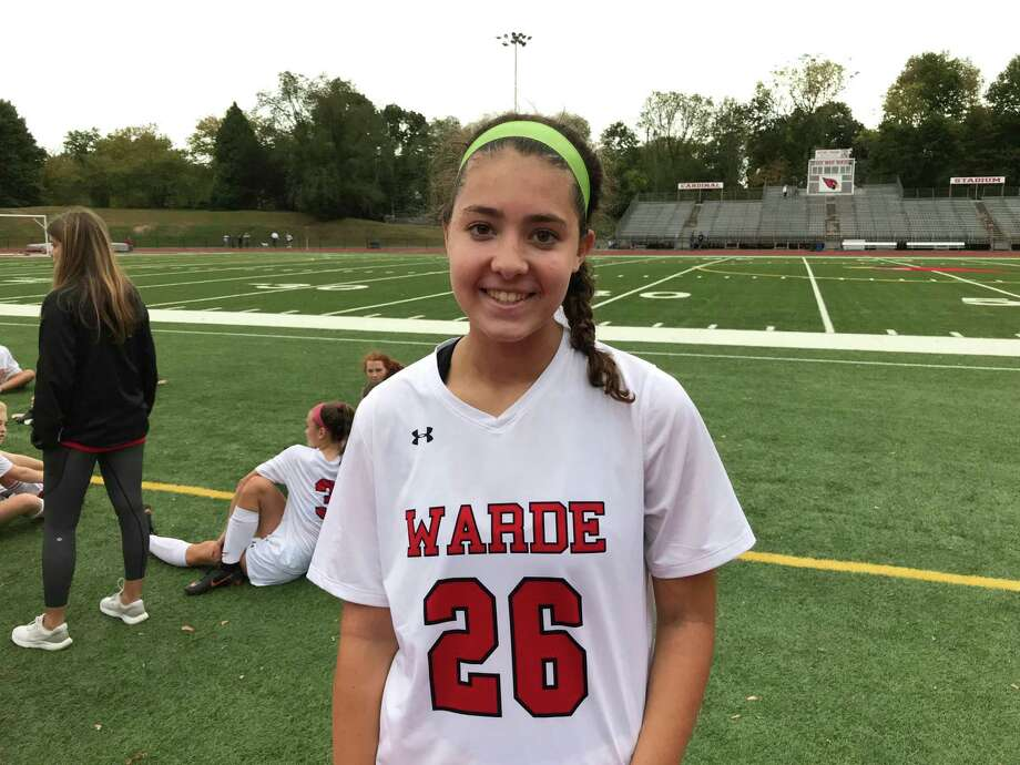 Fairfield Warde junior Julia Marcus scored a goal for the Mustangs in their 1-0 win over Greenwich on Monday, October 7, 2019, in Greenwich. Photo: David Fierro /Hearst Connecticut Media