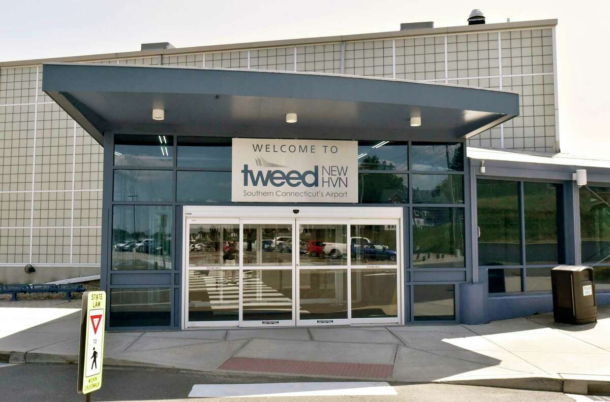 Tweed New Haven Airport in 2019. The airport will vie against Sikorsky Memorial Airport for state support for expansion under Gov. Ned Lamont's 10-year transportation plan.