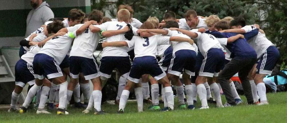 On Monday, the Bad Axe soccer team officially picked up a share of the Greater Thumb Conference championship with a forfeit victory over Laker. Photo: Mark Birdsall/Huron Daily Tribune, File